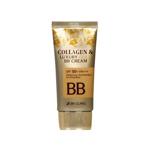 Collagen&Luxury Gold BB Cream SPF50+ PA+++, 3W CLINIC, ВВ-крем с коллагеном и золотомCollagen&Luxury Gold BB Cream SPF50+ PA+++, 3W CLINIC, ВВ-крем с коллагеном и золотом