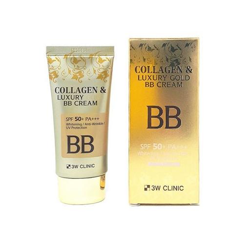 Collagen&Luxury Gold BB Cream SPF50+ PA+++, 3W CLINIC, ВВ-крем с коллагеном и золотом