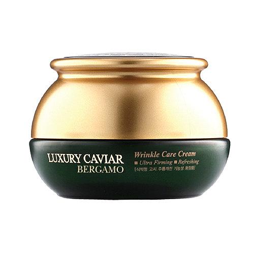 Luxury Caviar Wrinkle Care Cream, Bergamo, антивозрастной крем люкс класса с экстрактом черной икры