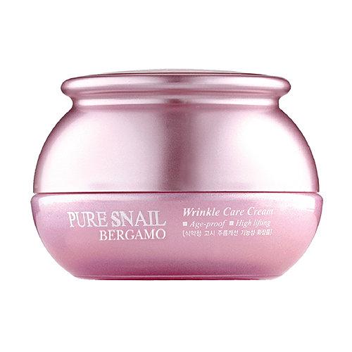 Pure Snail Wrinkle Care Cream, Bergamo, антивозрастной крем с улиткой