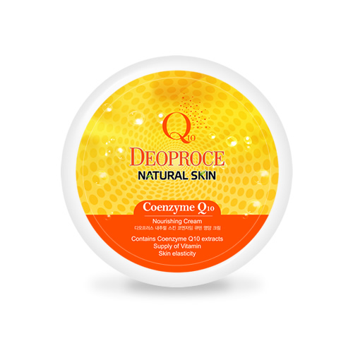Natural Skin Coenzyme Q10 Nourishing Cream, Deoproce, питательный крем на основе коэнзима Q10
