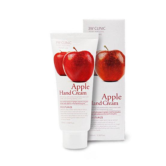 Apple Hand Cream, 3W Clinic, крем для рук с яблоком