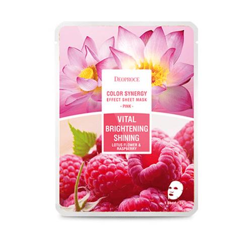 Pink Vital Brightening Shining Корейские тканевые маски, купить