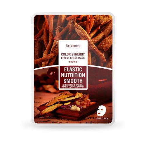 Brown Elastic Nutrition Smooth, Deoproce, маска с экстрактами восточных трав и корнем женьшеня