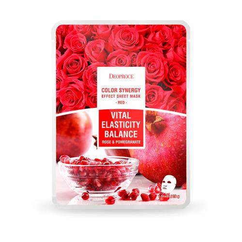 Red Vital Elasticity Balance, Deoproce, маска с гранатом и лепестками роз