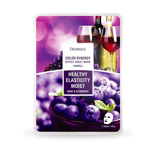 Purple Healthy Elasticity Moist, Deoproce, маска счерникой и красным вином