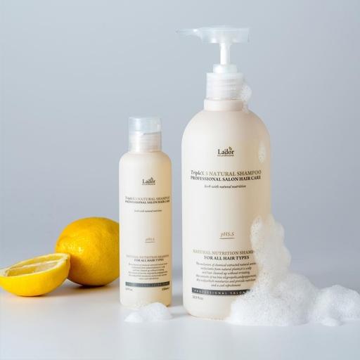 Triplex Natural Shampoo, La'dor, бессульфатный органический шампунь hedeo