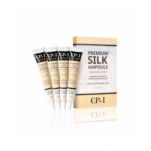 Premium Silk Ampoule, Esthetic House, несмываемая сыворотка для волос с шелком 20 мл