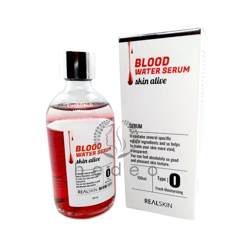 Blood Water Serum Skin Alive, Realskin, антивозрастная сыворотка для лица