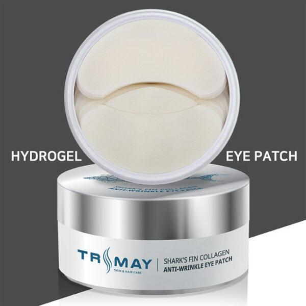 Sharks-Fin-Collagen-Anti-wrinkle-Eye-Patch. Купить патчи с хрящом акулы. Патчи с акулой. Корейская косметик в интернет-магазине Hedeo. Доставка по России