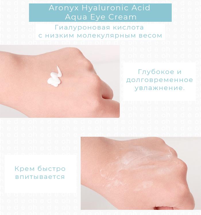 Aronyx Hyaluronic Acid Aqua Eye Cream, Mediflower. Купить корейскую косметику с доставкой. Hedeo, интернет-магазин корейской косметики
