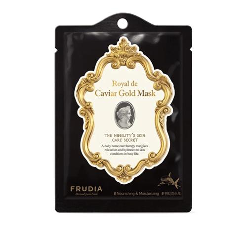 Royal de Caviar Gold Mask, Frudia, омолаживающая маска с экстрактом икры и золотом
