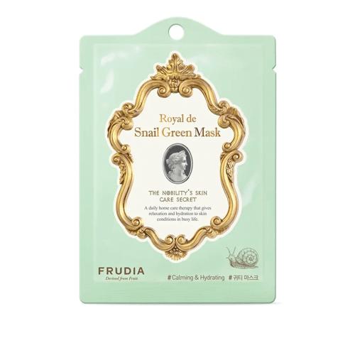 Royal de Snail Green Mask, Frudia, маска с экстрактом улитки