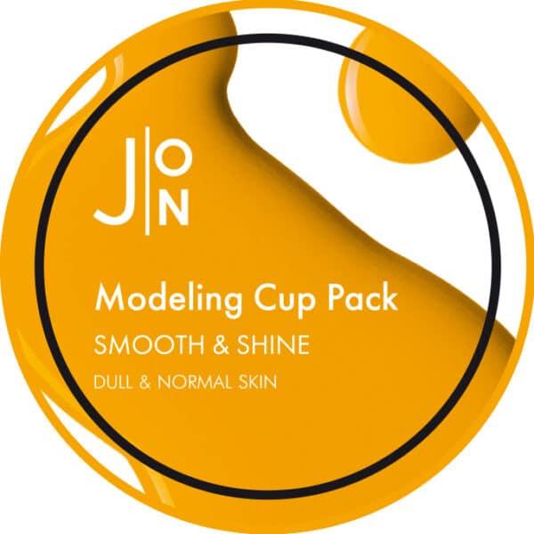 J:ON SMOOTH & SHINE MODELING PACK, альгинатная маска гладкость и сияние кожи
