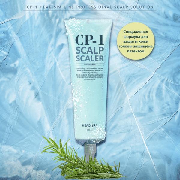 Head Spa Scalp Scaler, Esthetic House, линия CP-1, средство для очищения кожи головы (шампунь) купить в интернет-магазине с доставкой по России