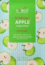 Apple Mask Sheet Тканевая маска для лица с яблоком, SOLEAF