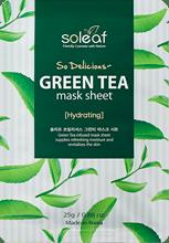 So Delicious Green Tea Mask Sheet , SOLEAF, маска для лица с зеленым чаем