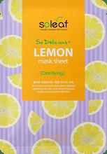 So Delicious Lemon Mask Sheet , SOLEAF, маска для лица с лимоном