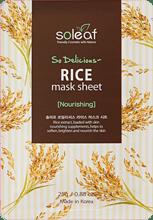 So Delicious Rice Mask Sheet , SOLEAF, питательная маска для лица с рисом