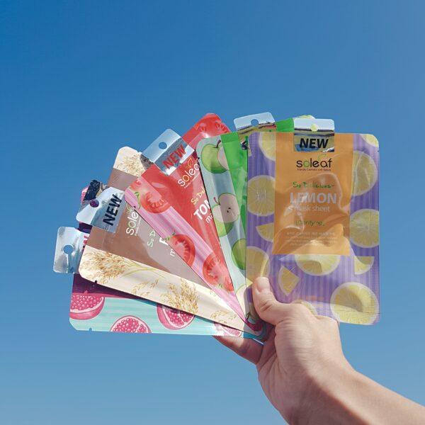 So Delicious Mask Sheet SOLEAF тканевые маски купить в интернет магазине Hedeo бесплатная доставка по всей России от 3000 руб